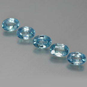 Blue Zircon Gem - 1.2ct Oval Facet (ID: 371570)