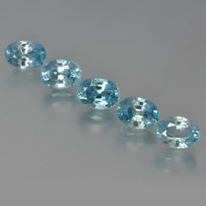 Blue Zircon Gem - 1.5ct Oval Facet (ID: 371572)