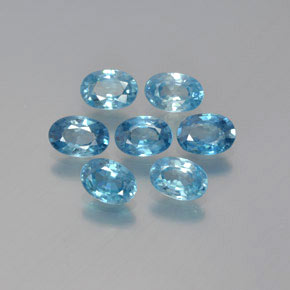 Blue Zircon Gem - 0.7ct Oval Facet (ID: 371579)