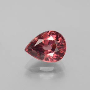 Pink Rose Zircon Gem - 3.1ct Pear Facet (ID: 372911)