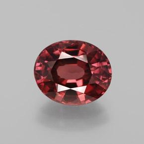 Rose Zircon Gem - 2.7ct Oval Facet (ID: 374004)