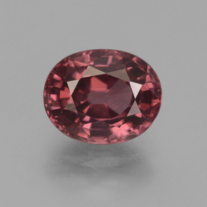 Rose Pink Zircon Gem - 3.3ct Oval Facet (ID: 374888)