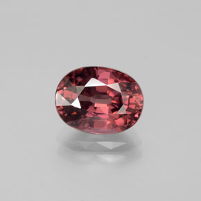 Rose Pink Zircon Gem - 3.7ct Oval Facet (ID: 375050)