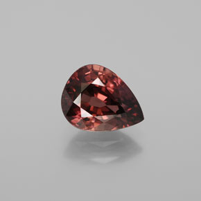 Rose Zircon Gem - 3.3ct Pear Facet (ID: 375195)
