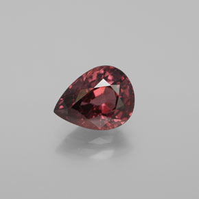 Rose Pink Zircon Gem - 3.2ct Pear Facet (ID: 375199)