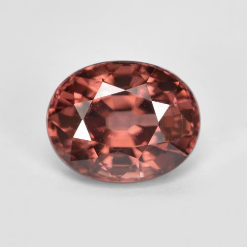 Rose Zircon Gem - 2.9ct Oval Facet (ID: 375266)