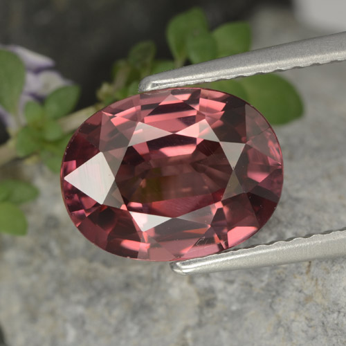 Merlot Red Zircon Gem - 3.7ct Oval Facet (ID: 375529)