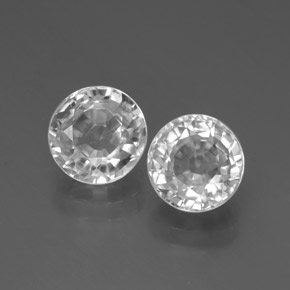 White Zircon Gem - 2.3ct Round Facet (ID: 377884)