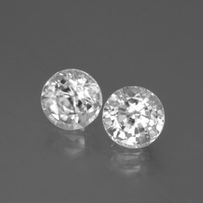 White Zircon Gem - 1.9ct Round Facet (ID: 377893)