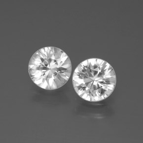 White Zircon Gem - 1.1ct Diamond-Cut (ID: 378018)