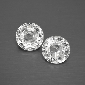 White Zircon Gem - 1.8ct Round Facet (ID: 378495)