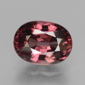 Rose Pink Zircon Gem - 3.1ct Oval Facet (ID: 379622)