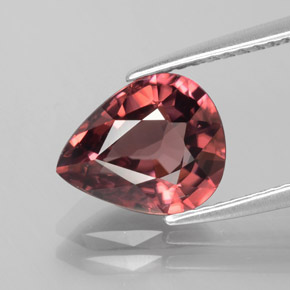 3.3ct Pear Facet Rose Pink Zircon Gem (ID: 379674)