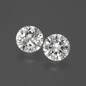 White Zircon Gem - 1.3ct Diamond-Cut (ID: 380273)