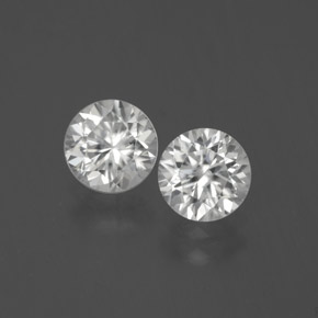 White Zircon Gem - 1.3ct Diamond-Cut (ID: 380278)