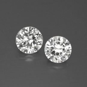White Zircon Gem - 1.3ct Diamond-Cut (ID: 380343)
