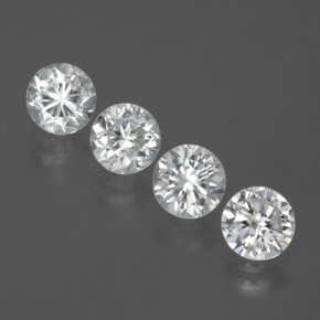 White Zircon Gem - 1.1ct Diamond-Cut (ID: 380619)
