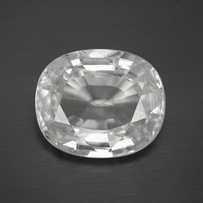 White Zircon Gem - 13.8ct Oval Facet (ID: 381426)