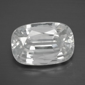 White Zircon Gem - 13.7ct Cushion-Cut (ID: 381430)