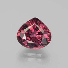 5.26 ct Pear Facet Rose Pink Zircon Gemstone 10.11 mm x 9 mm (Product ID: 382161)