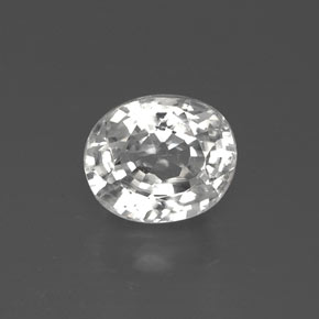 White Zircon Gem - 2.8ct Oval Facet (ID: 382170)