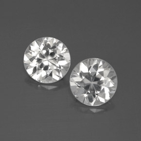 White Zircon Gem - 2.1ct Diamond-Cut (ID: 383026)
