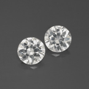 White Zircon Gem - 1.8ct Diamond-Cut (ID: 383031)