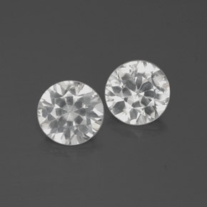 White Zircon Gem - 1.9ct Diamond-Cut (ID: 383033)