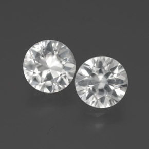 White Zircon Gem - 2.1ct Diamond-Cut (ID: 383098)