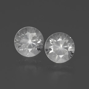 White Zircon Gem - 2.2ct Diamond-Cut (ID: 383105)