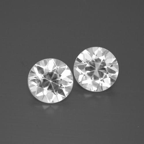 White Zircon Gem - 1.8ct Diamond-Cut (ID: 385790)