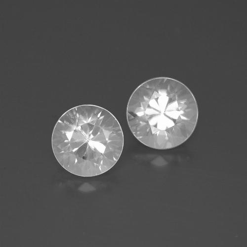 White Zircon Gem - 1.8ct Diamond-Cut (ID: 385792)