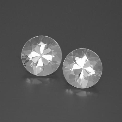 White Zircon Gem - 2.4ct Diamond-Cut (ID: 385799)
