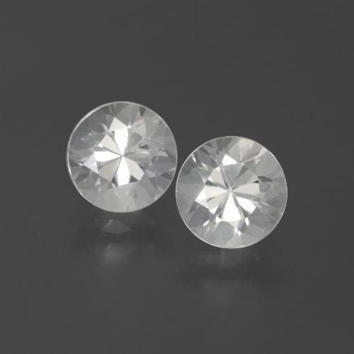 White Zircon Gem - 1.7ct Diamond-Cut (ID: 385888)