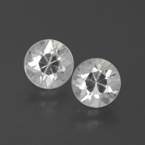 White Zircon Gem - 1.9ct Diamond-Cut (ID: 385889)
