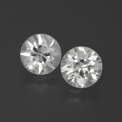 White Zircon Gem - 2.4ct Diamond-Cut (ID: 385970)