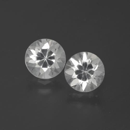 White Zircon Gem - 1.8ct Diamond-Cut (ID: 385981)