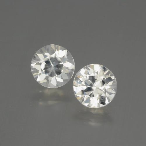 White Zircon Gem - 2.2ct Diamond-Cut (ID: 405136)