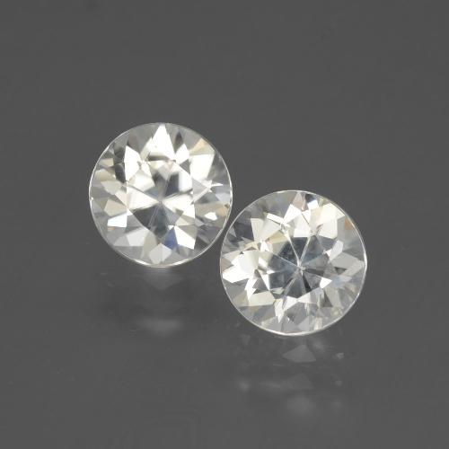 Warm White Zircon Gem - 2.1ct Diamond-Cut (ID: 405143)