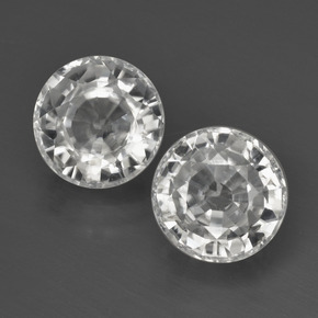 White Zircon Gem - 3.1ct Round Facet (ID: 405341)