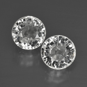 White Zircon Gem - 2.9ct Round Facet (ID: 405342)
