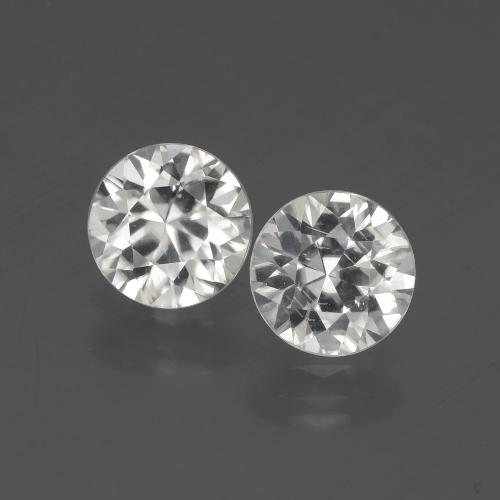 White Zircon Gem - 1.8ct Diamond-Cut (ID: 405396)
