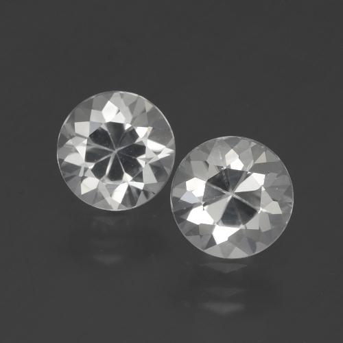 White Zircon Gem - 1.6ct Diamond-Cut (ID: 405469)