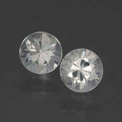 White Zircon Gem - 1.7ct Diamond-Cut (ID: 405471)