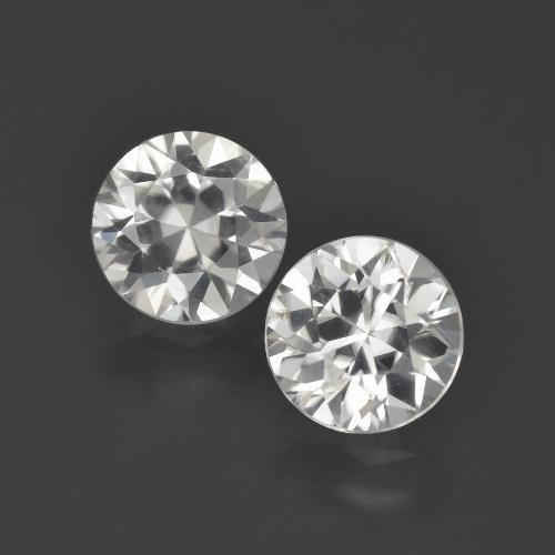 White Zircon Gem - 2ct Diamond-Cut (ID: 405509)