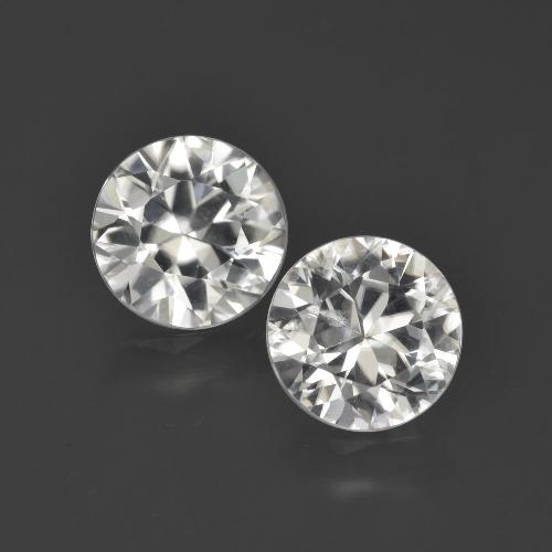 Warm White Zircon Gem - 2ct Diamond-Cut (ID: 405512)