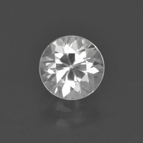 White Zircon Gem - 1.6ct Diamond-Cut (ID: 405617)