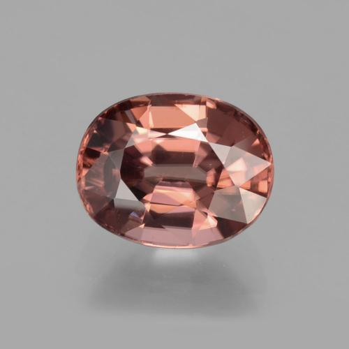 Rose Pink Zircon Gem - 3.6ct Oval Facet (ID: 406591)