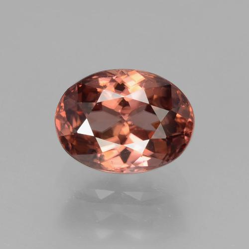 Rose Pink Zircon Gem - 3ct Oval Facet (ID: 406595)