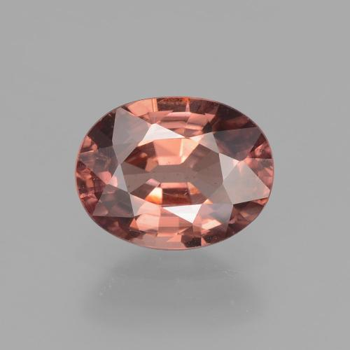 Rose Pink Zircon Gem - 2.8ct Oval Facet (ID: 406738)